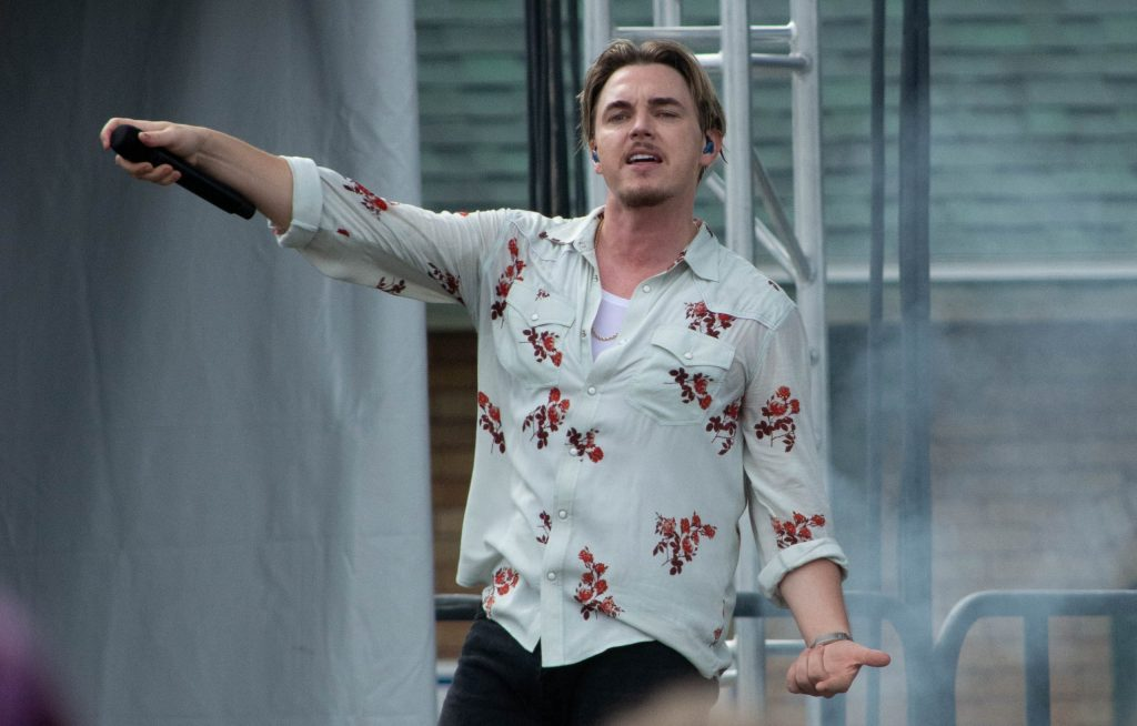 Jesse McCartney performs as the 2021 New York State Fair