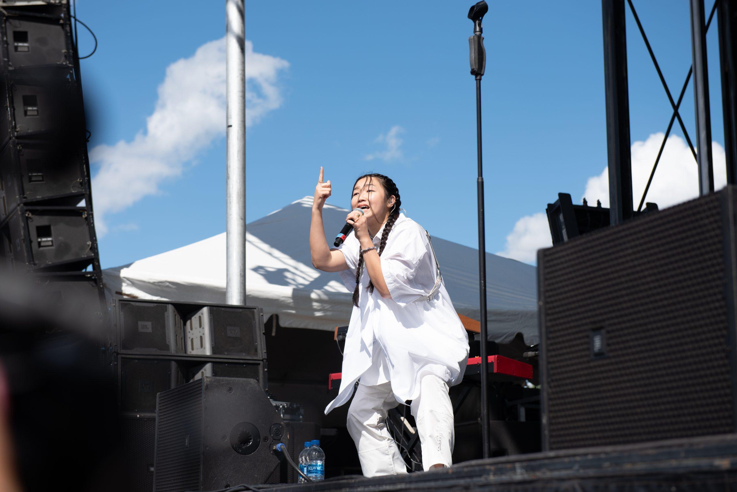 Audrey Nuna performing at Juice Jam 2021