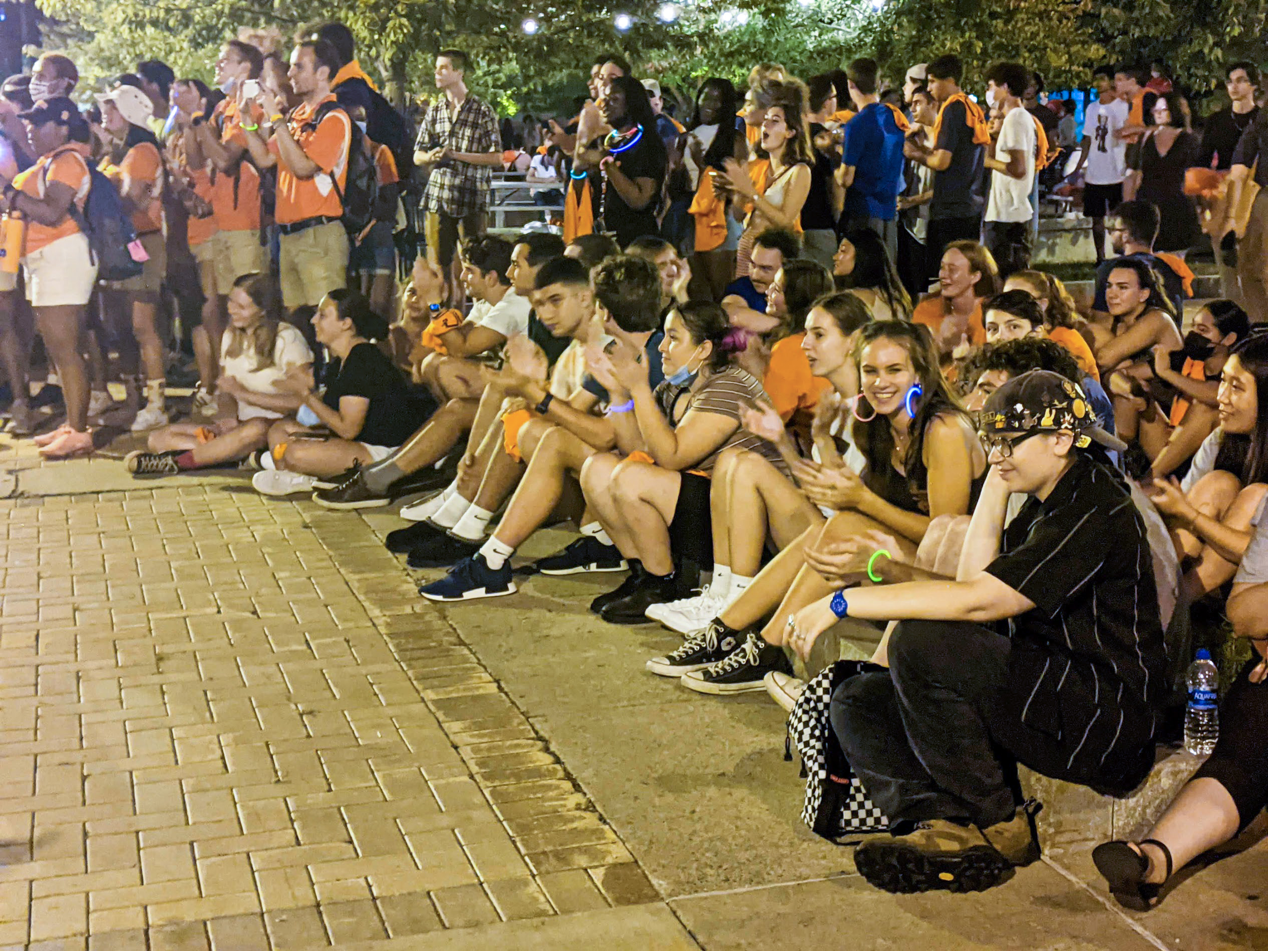 A crowd of First-year, transfer and sophomore students gathered to celebrate the new school year and being Orange