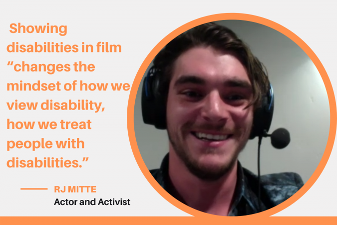 Actor and diversity and equality activist RJ Mitte spoke to SU students about the need for greater representation of people with disabilities in the TV and film industry.