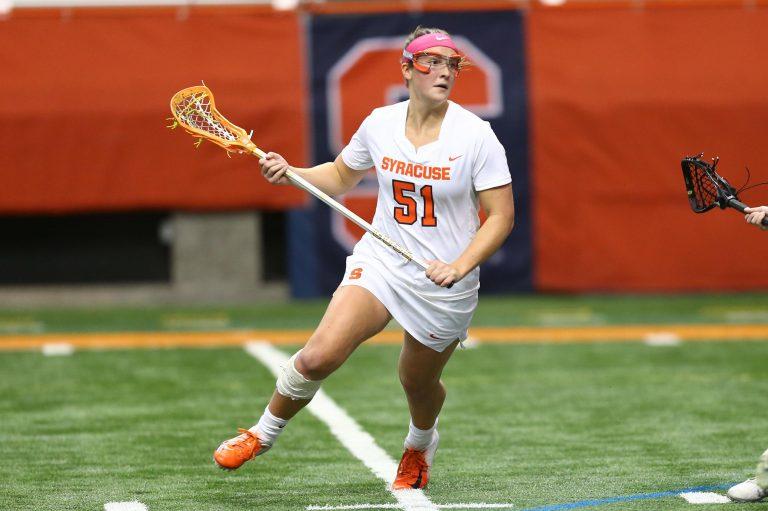 SU women's lacrosse player Emily Hawryschuk
