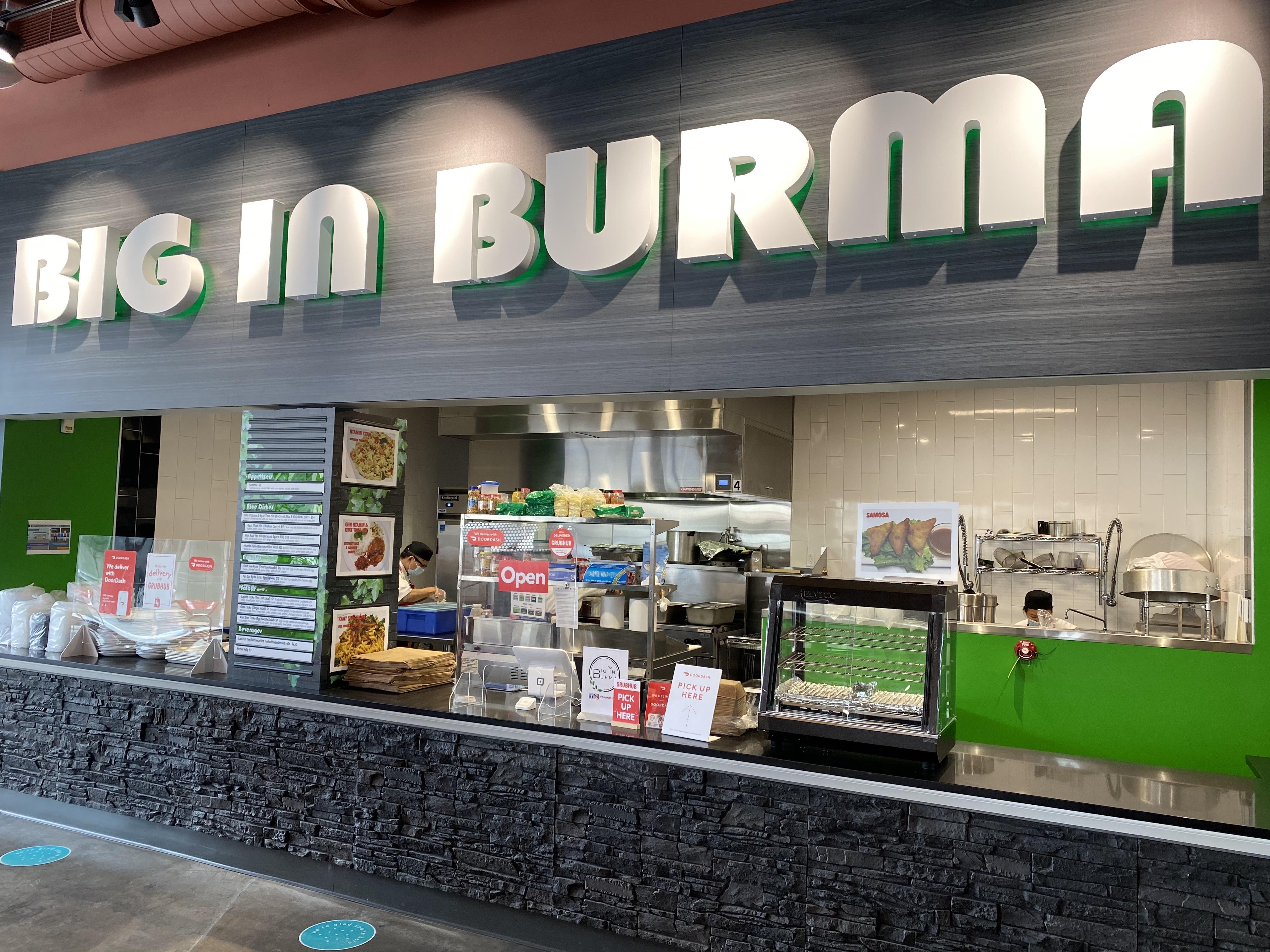 Big in Burma is a restaurant located in Salt City Market in Syracuse, New York.