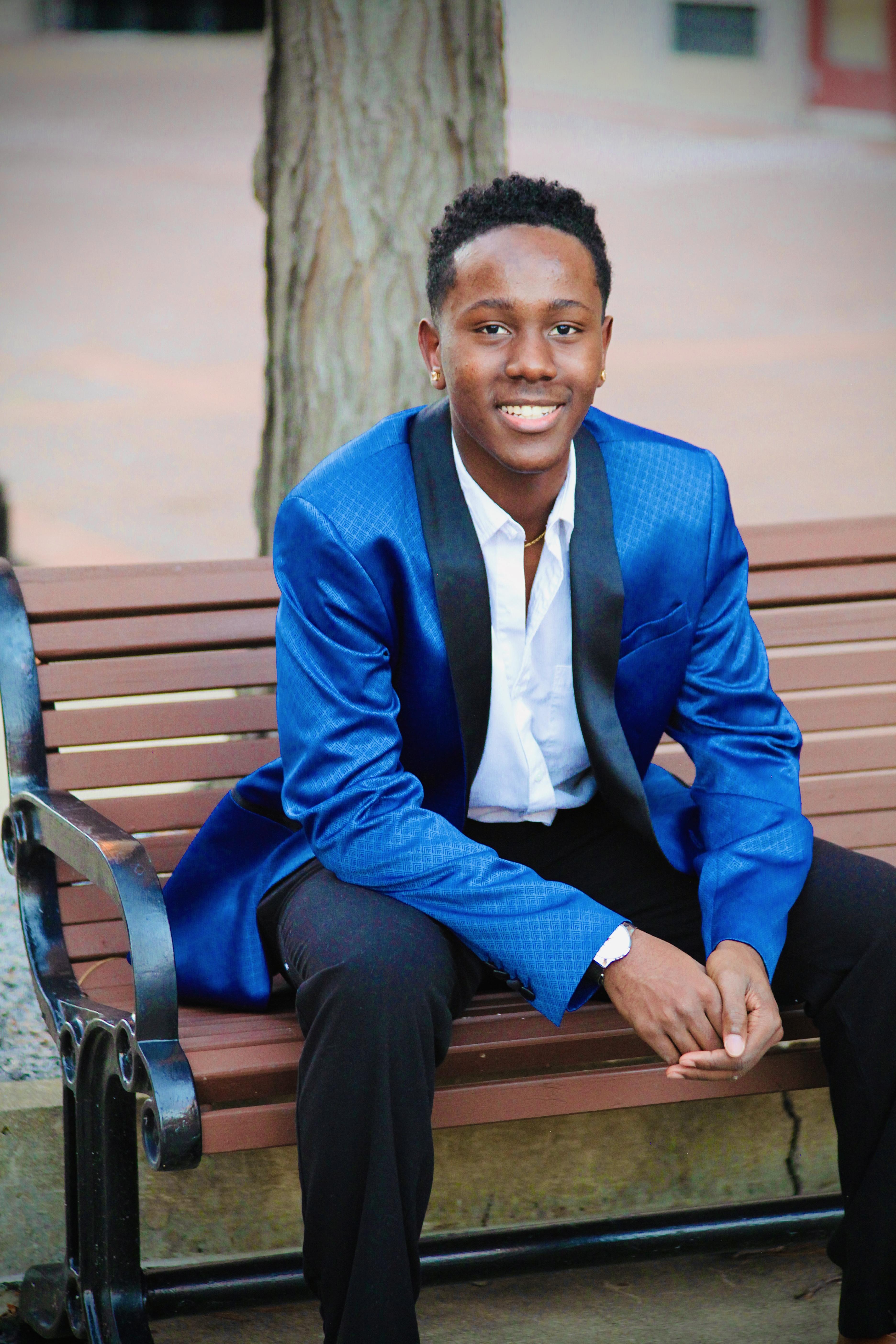 Malik Robinson, Nottingham High School senior class president, created Nottingham's annual Black History Month presentation with his classmate Hawa Ahmed in 2019.