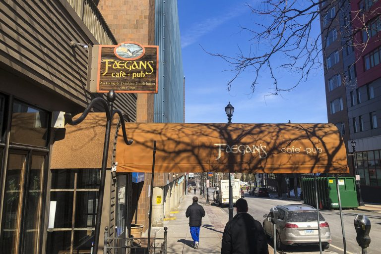 Faegan's Cafe & Pub near Marshall Street on March 9, 2021