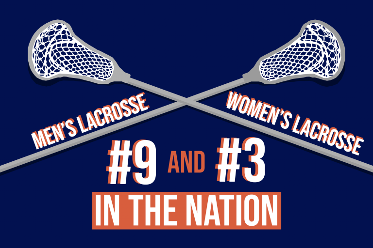 Graphic: SU men's lacrosse ranked #9 and women's lacrosse #3 nationally