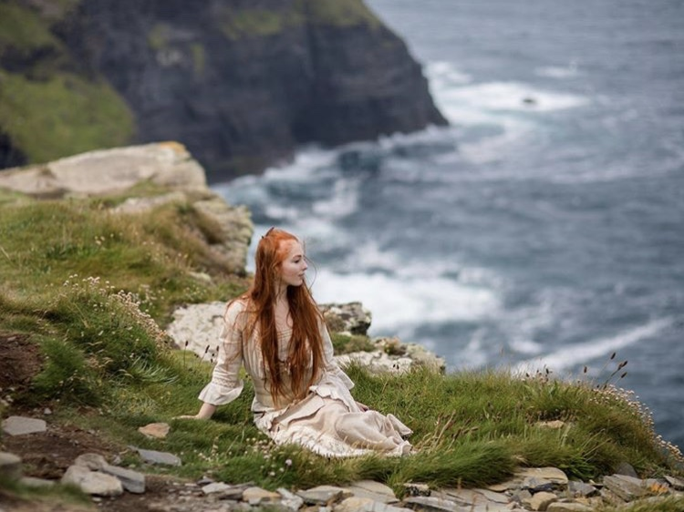 Garvin Hastings poses on the Cliffs of Moher