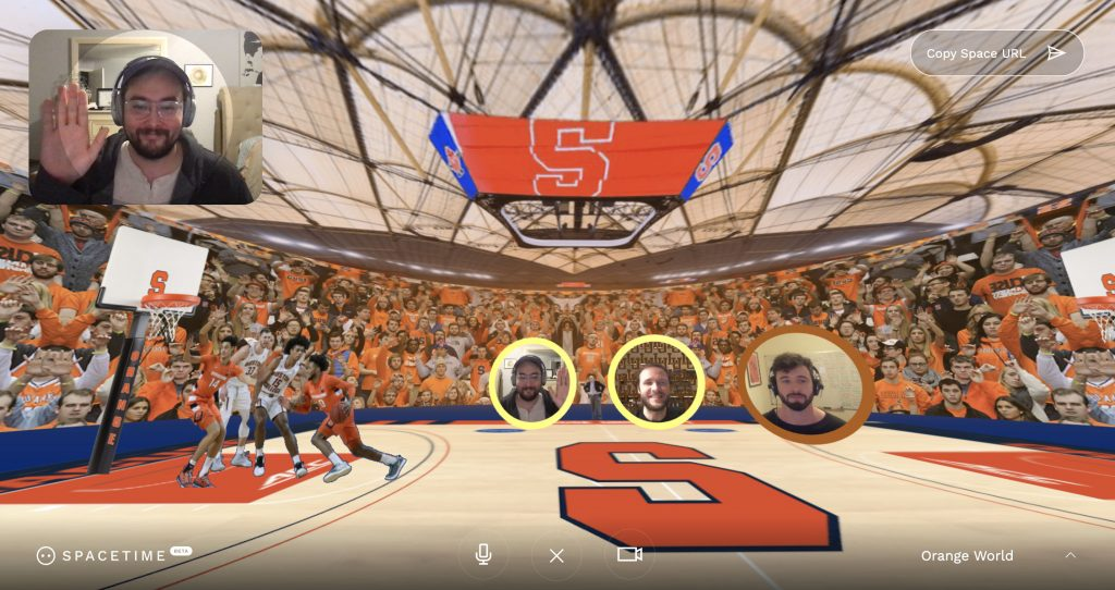 SpaceTime virtual chatroom interface created by SU alum