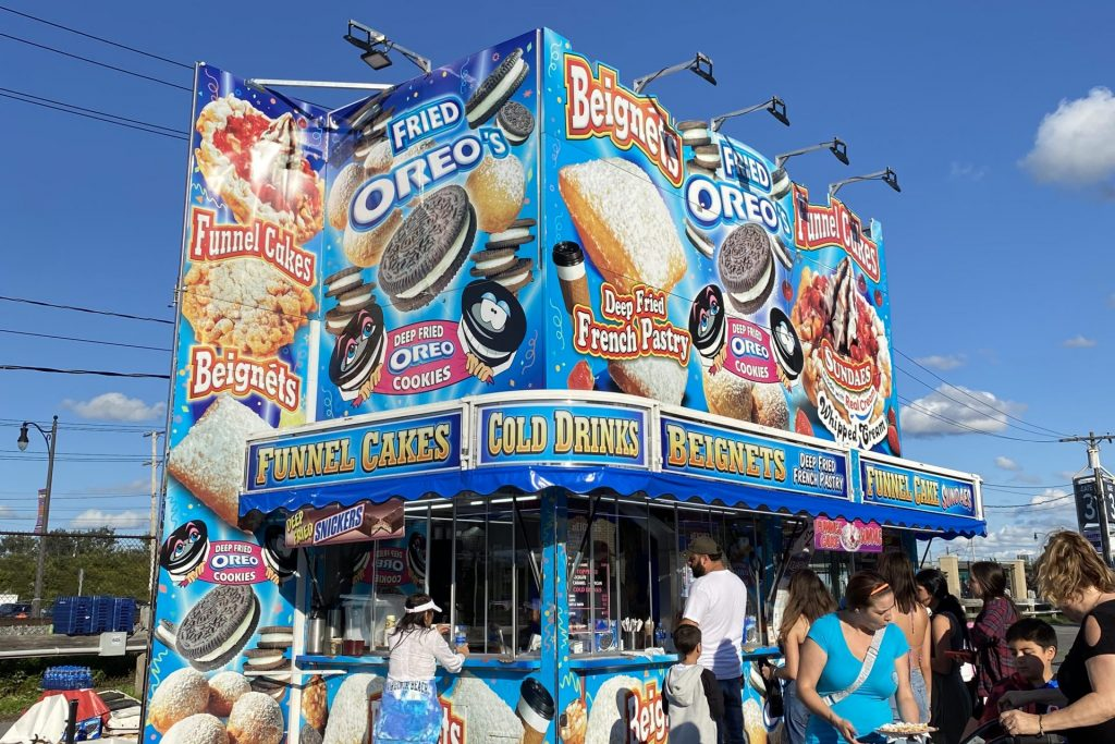 New York State Fair 2021 Food - Funnel Cake and Fried Food Stand