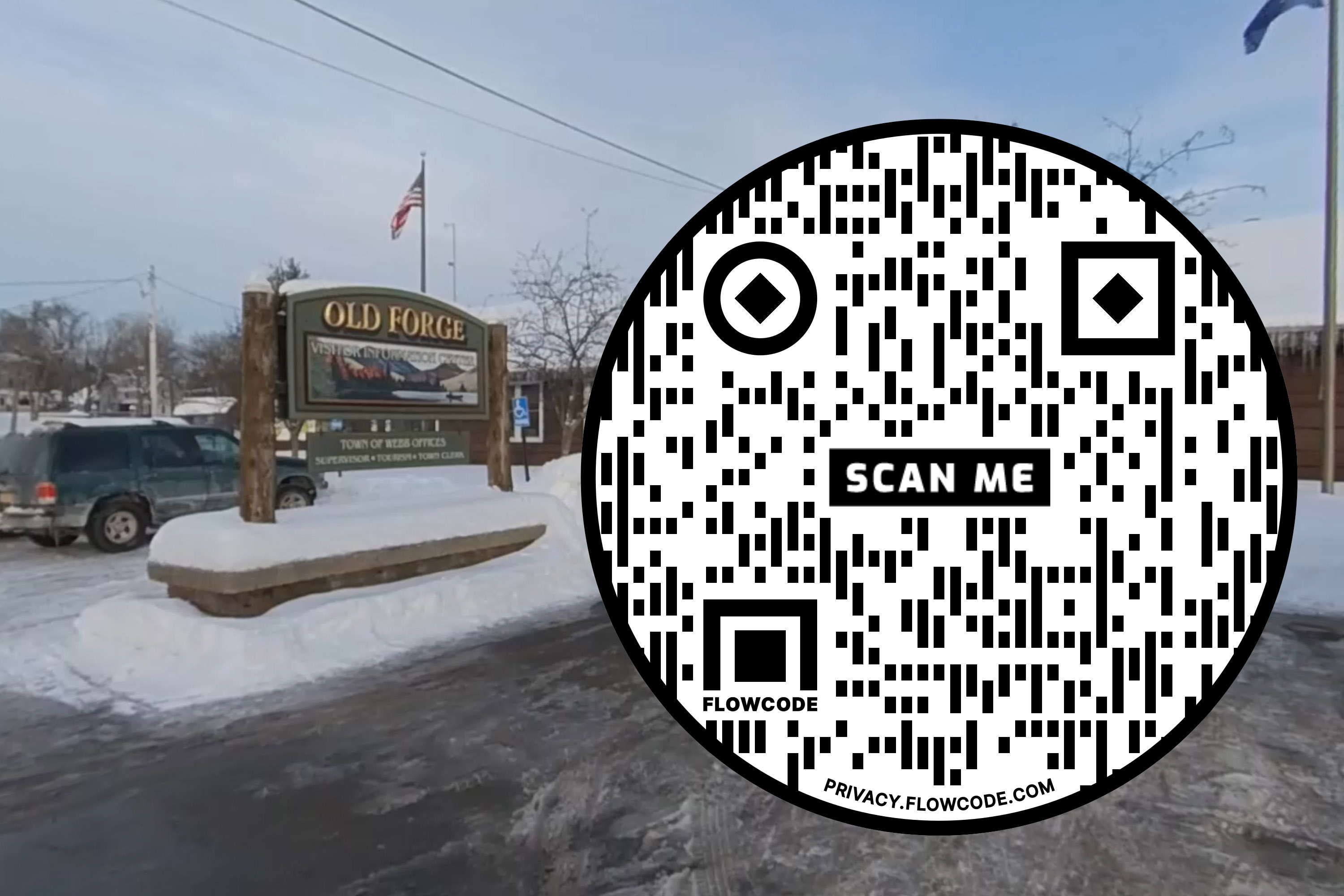 QR Code for Old Forge virtual tour
