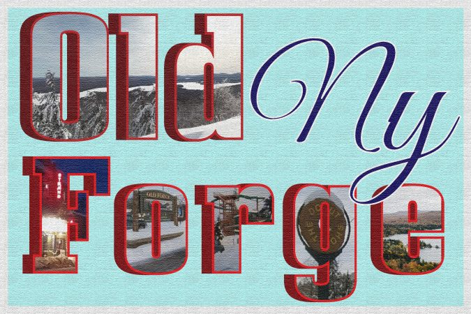 Old Forge postcard style collage