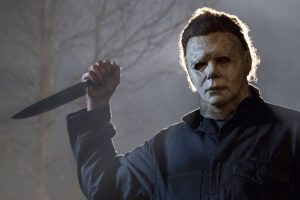"James Jude Courtney as Michael Myers in the 2018 version of ""Halloween."""