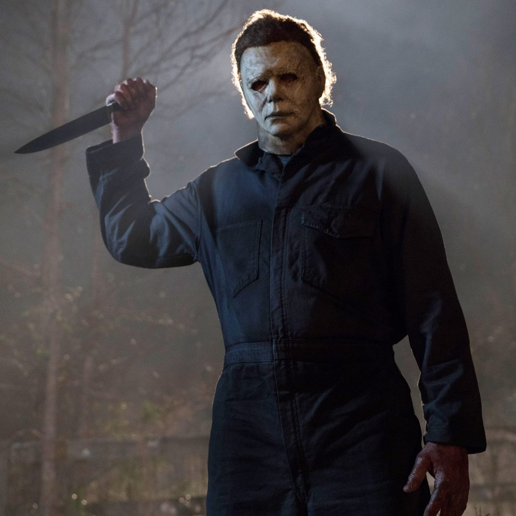 James Jude Courtney as Michael Myers in the 2018 version of