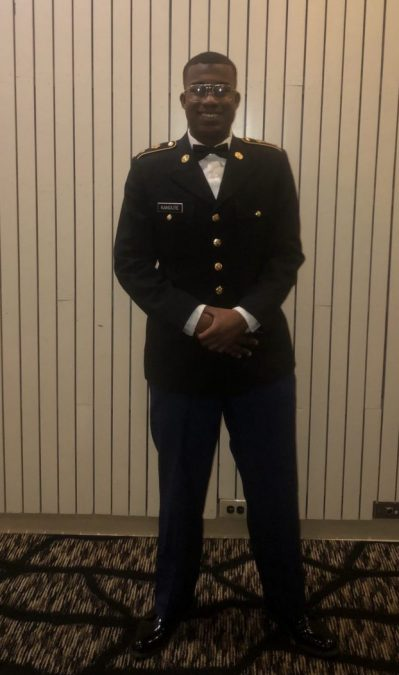 Minchailou Kanoute, a senior studying American history, is a first-generation college student in ROTC.