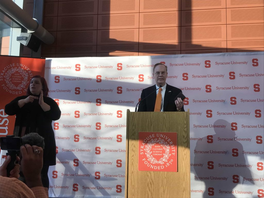 Chancellor Syverud delivers address on the first day of classes