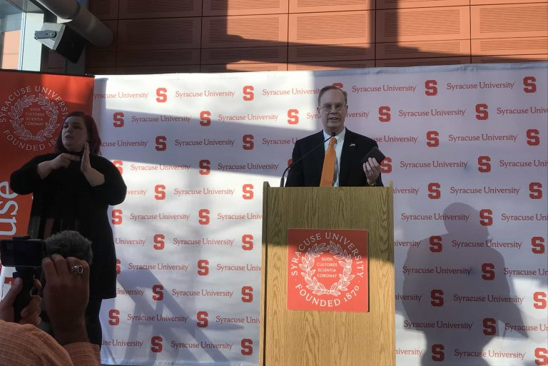 Chancellor Kent Syverud delivers address on the first day of classes