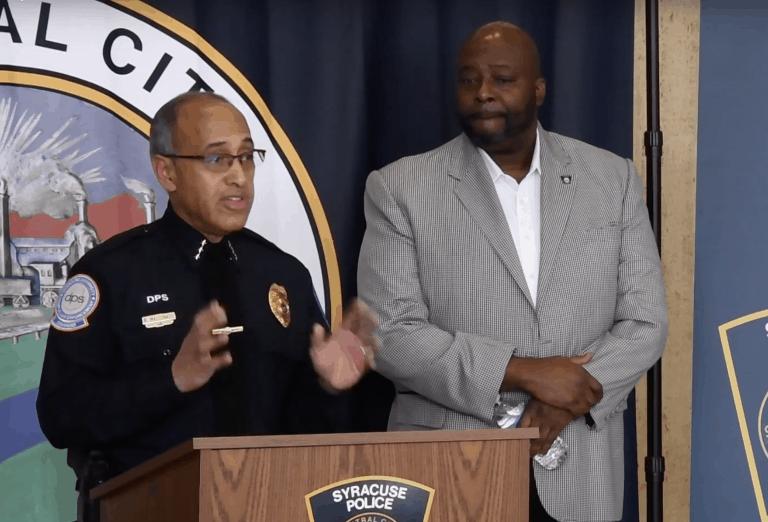 Syracuse law enforcement press conference Nov. 19, 2019.