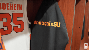 #NotAgainSU basketball gear