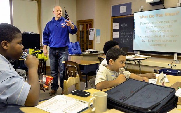 Joe Horan working with Building Young Men - Syracuse New York