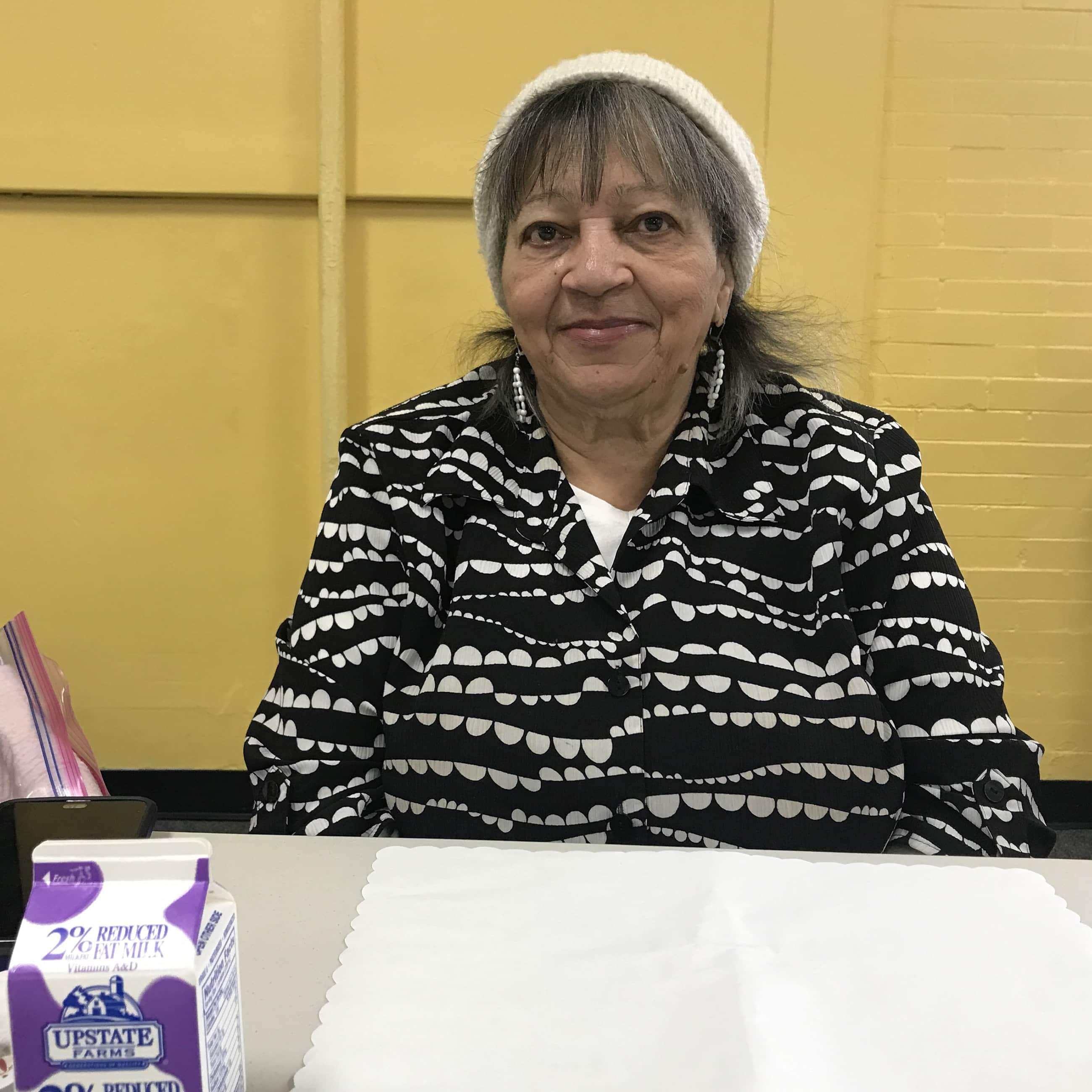 Olga Cepeda visits the Westcott Community Center in Syracuse, New York, for the Senior Nutrition Program.