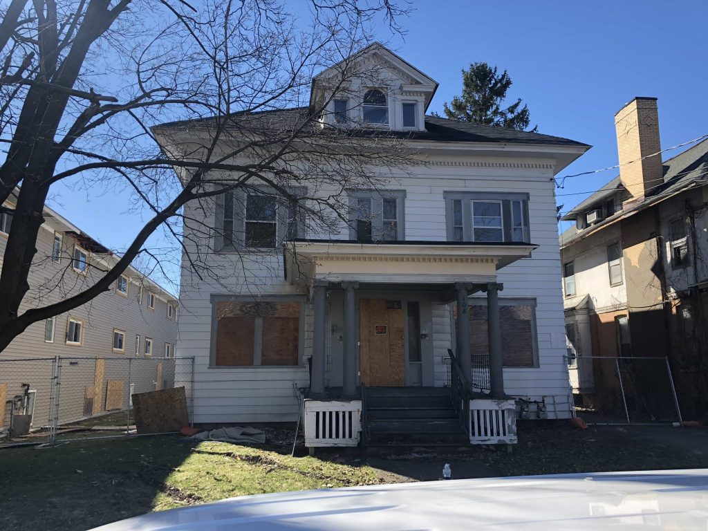 The house at 108 Onondaga Avenue that Paul Finch invested in restoring in spring 2019.