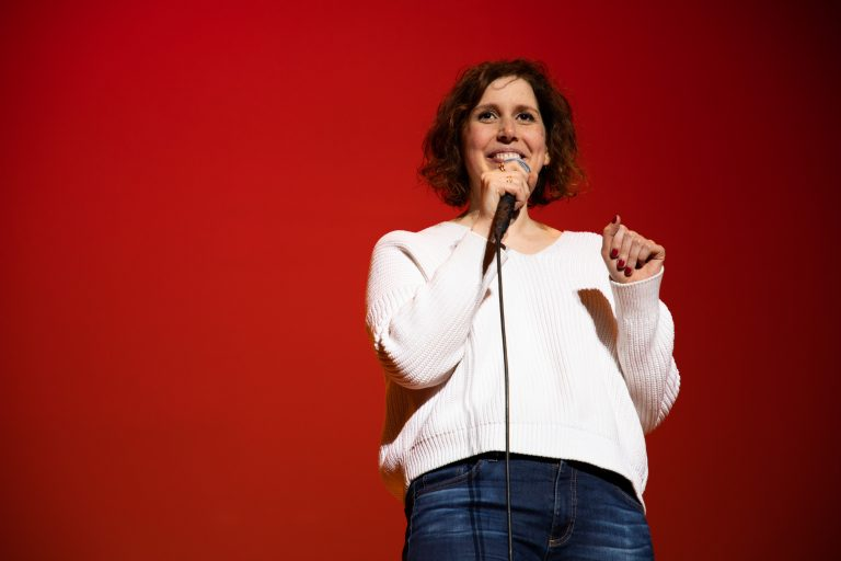 Vanessa Bayer at the University Union Comedy Show on March 1, 2019