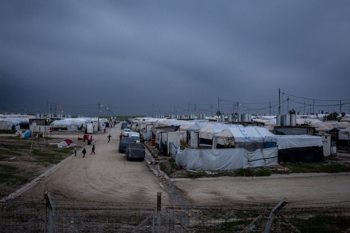 tents in a displacement camp