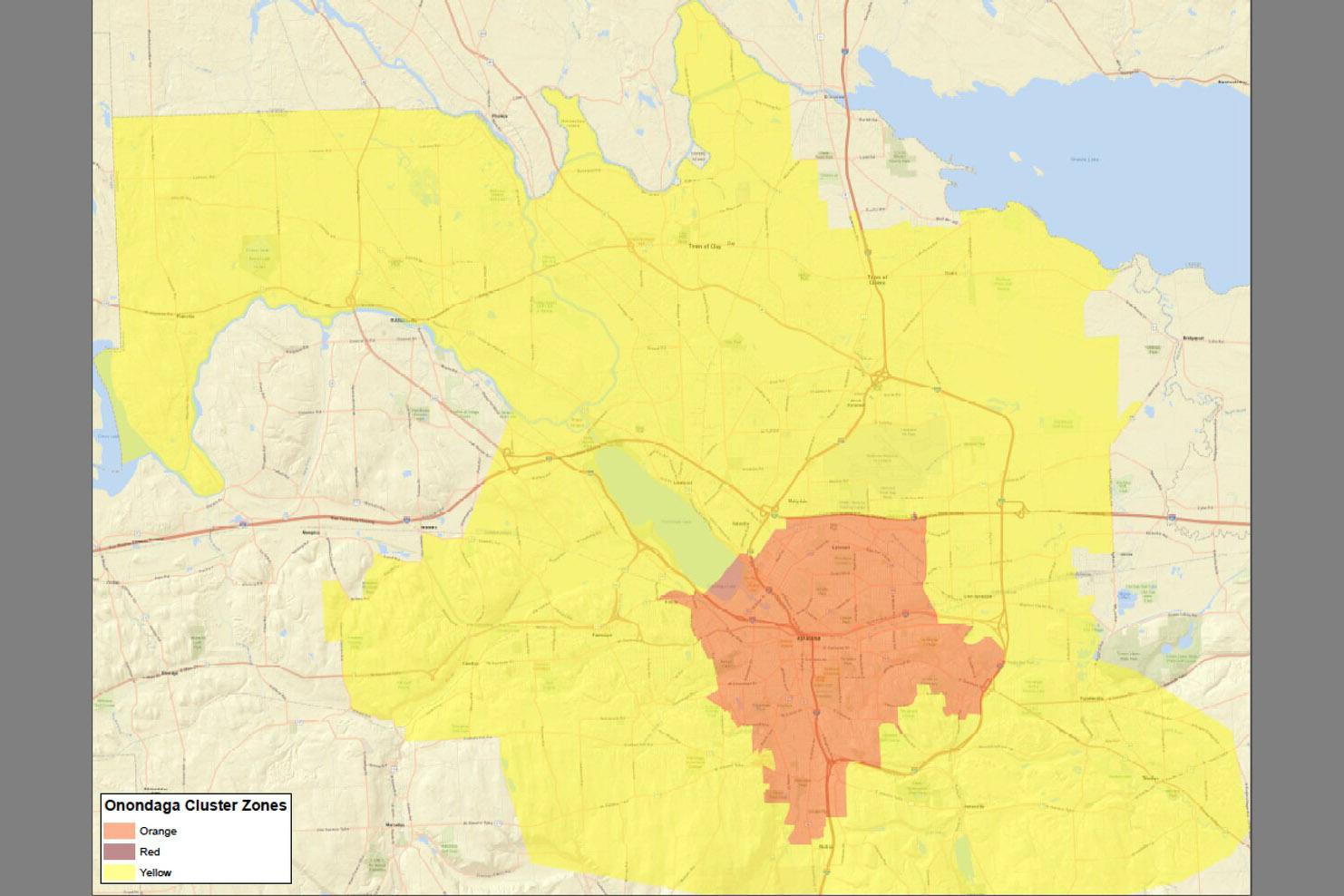 COVID-19 Orange Zone Map - November 23, 2020