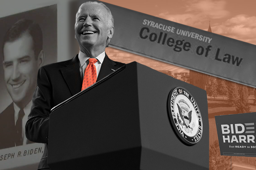 President Joe Biden will be Syracuse University's most famous alumnus. Biden graduated from SU's College of Law.