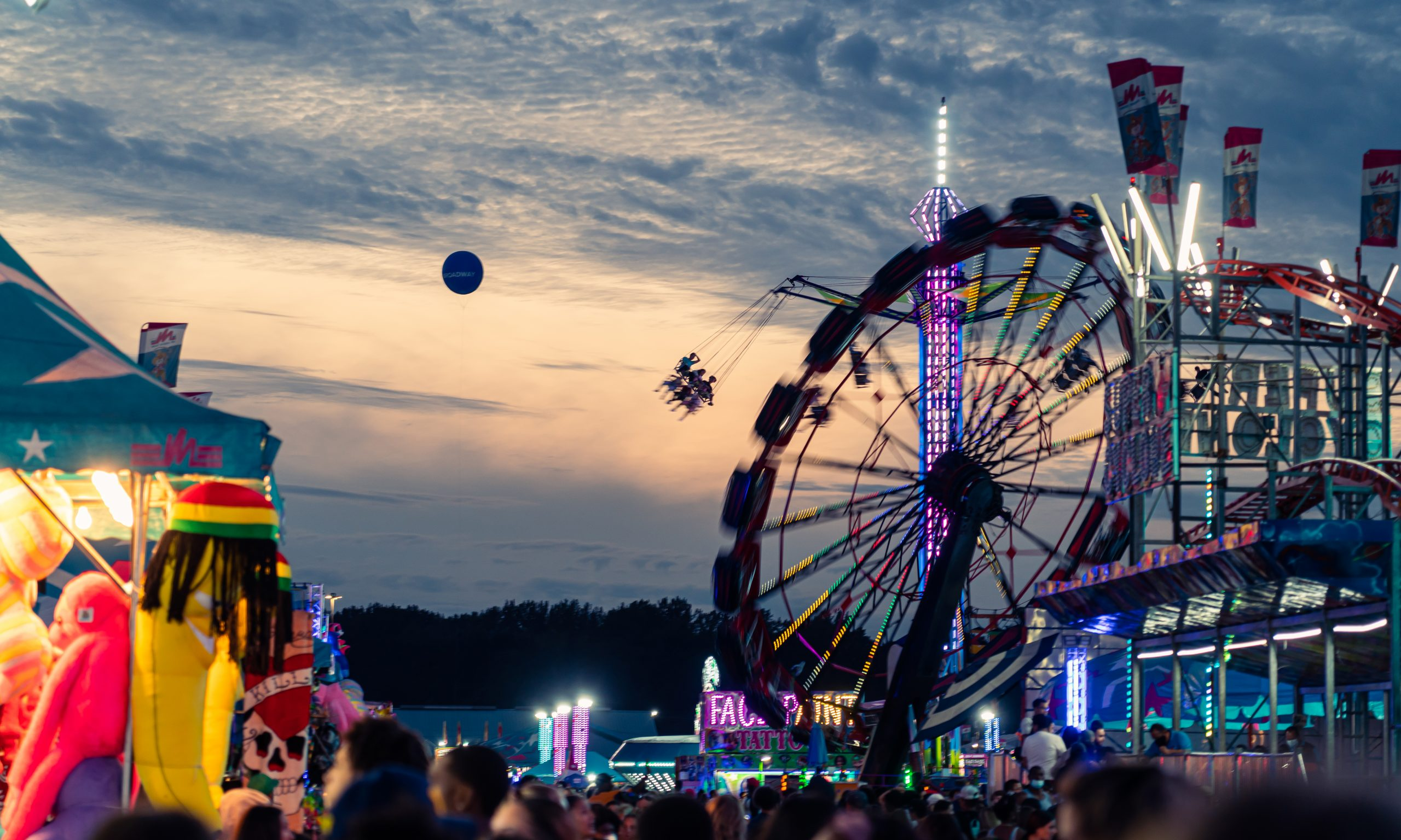The New York State Fair featured more than 40 amusement rides and plenty of carnival-style games.
