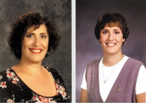 From left to right, Nicolina Pizzuto's staff photo from the 2019-2020 school year and her staff photo from 1991 when she began teaching at LeMoyne Elementary school.