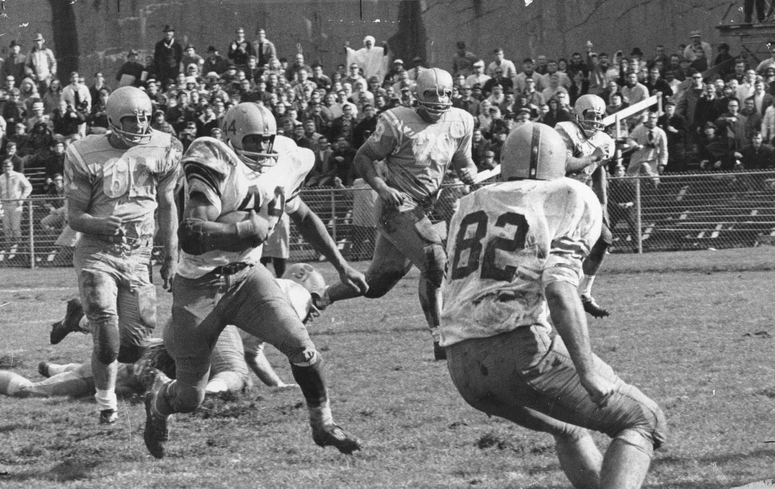 Floyd Little runs during a game with the Syracuse Orange. Little was a three-time All-American during his time with the Orange from 1964-1967.