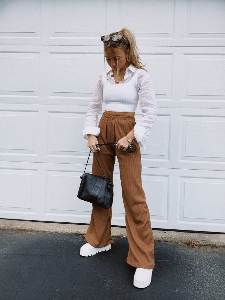 Bella Borek poses in her handmade clothing