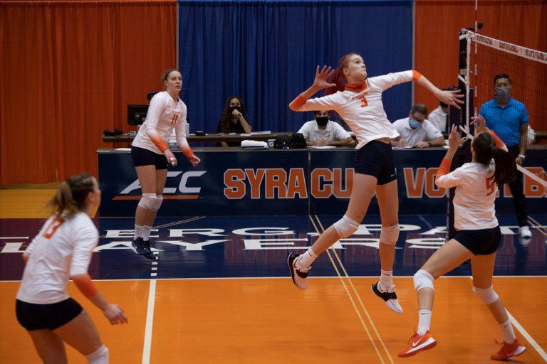 Syracuse volleyball vs. Boston College on Oct. 16, 2020