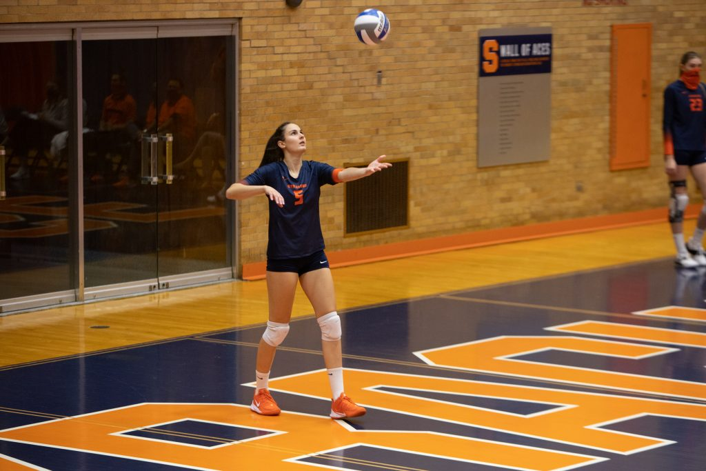 Syracuse volleyball vs. Boston College on Oct. 17, 2020
