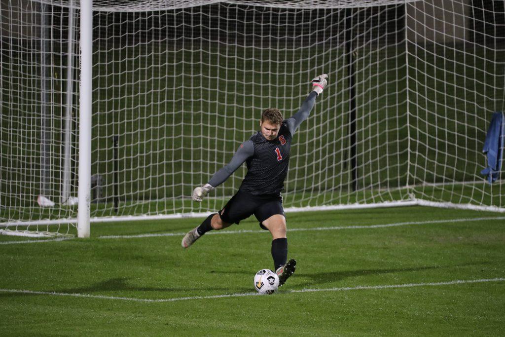 Syracuse men's soccer goalie Russell Shealy vs. Virginia