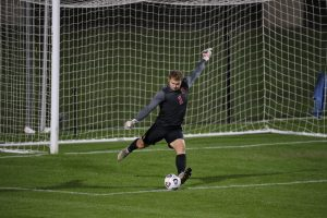 Syracuse men's soccer goalie Russell Shealy vs. Virginia