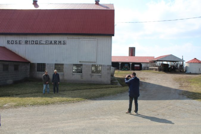 About Borderlines: Reporter interviewing Gill family at Rose Ridge Farms in Niagara Falls, Ontario