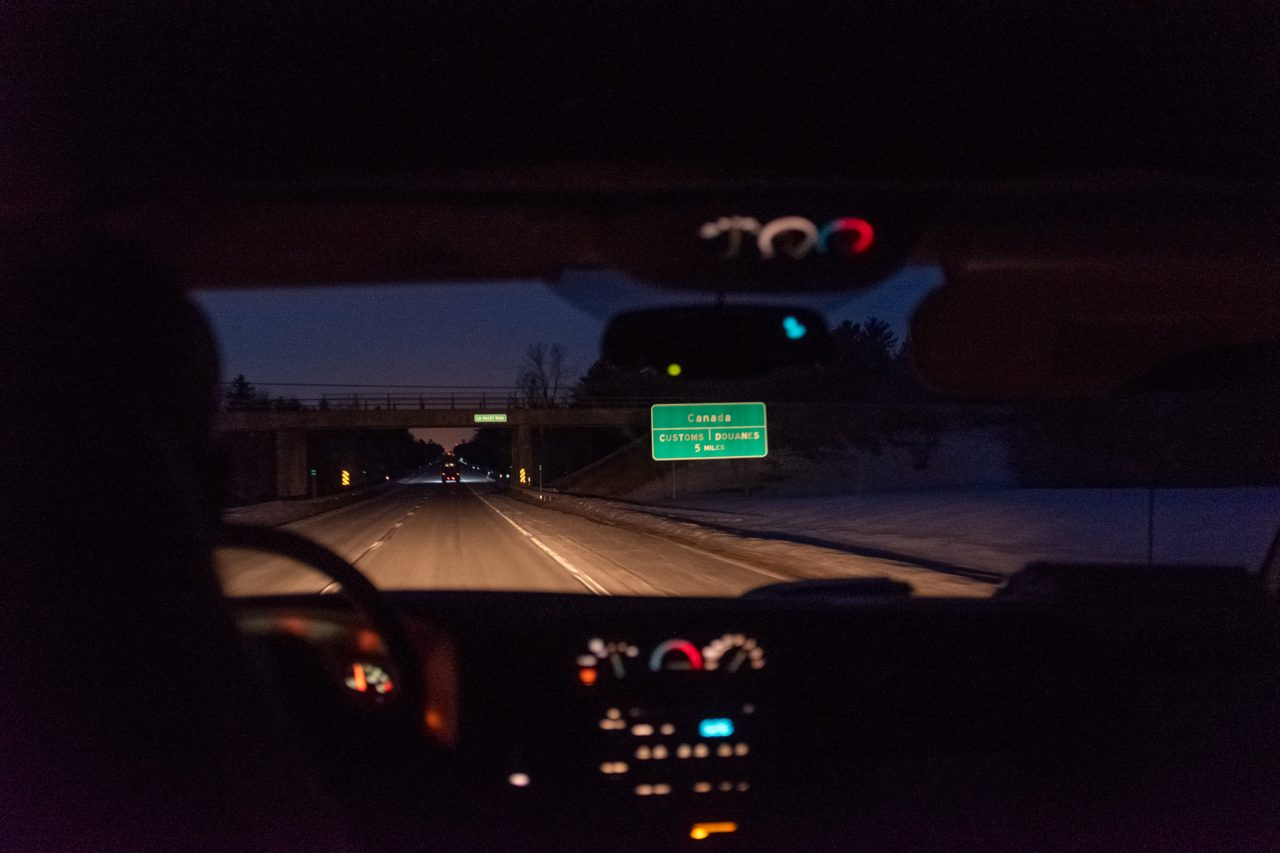 "Ero drives towards the Canadian border at nightfall with a man from Tanzania in the back. ""No one ever tips,"" he says."