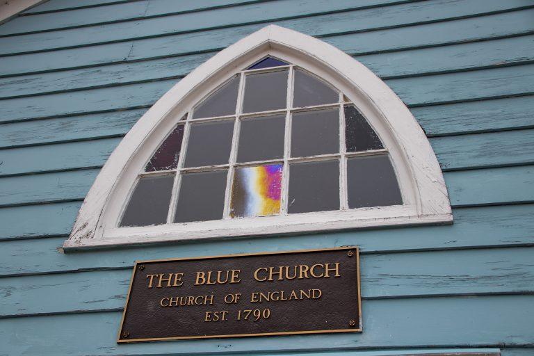 The Blue Church in Prescott, Ontario