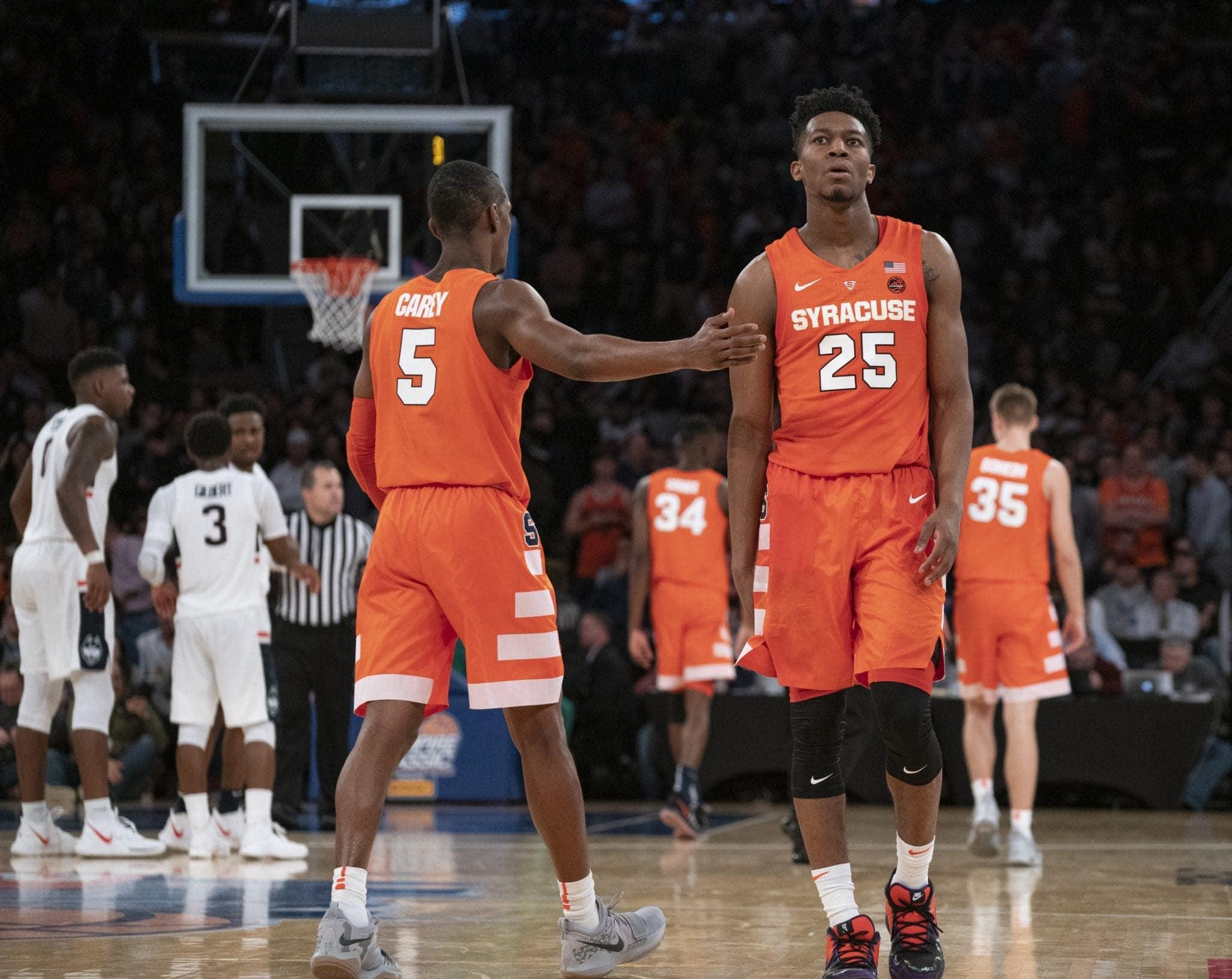 Syracuse vs. UConn men's basketball on Nov. 15, 2018, at Madison Square Garden