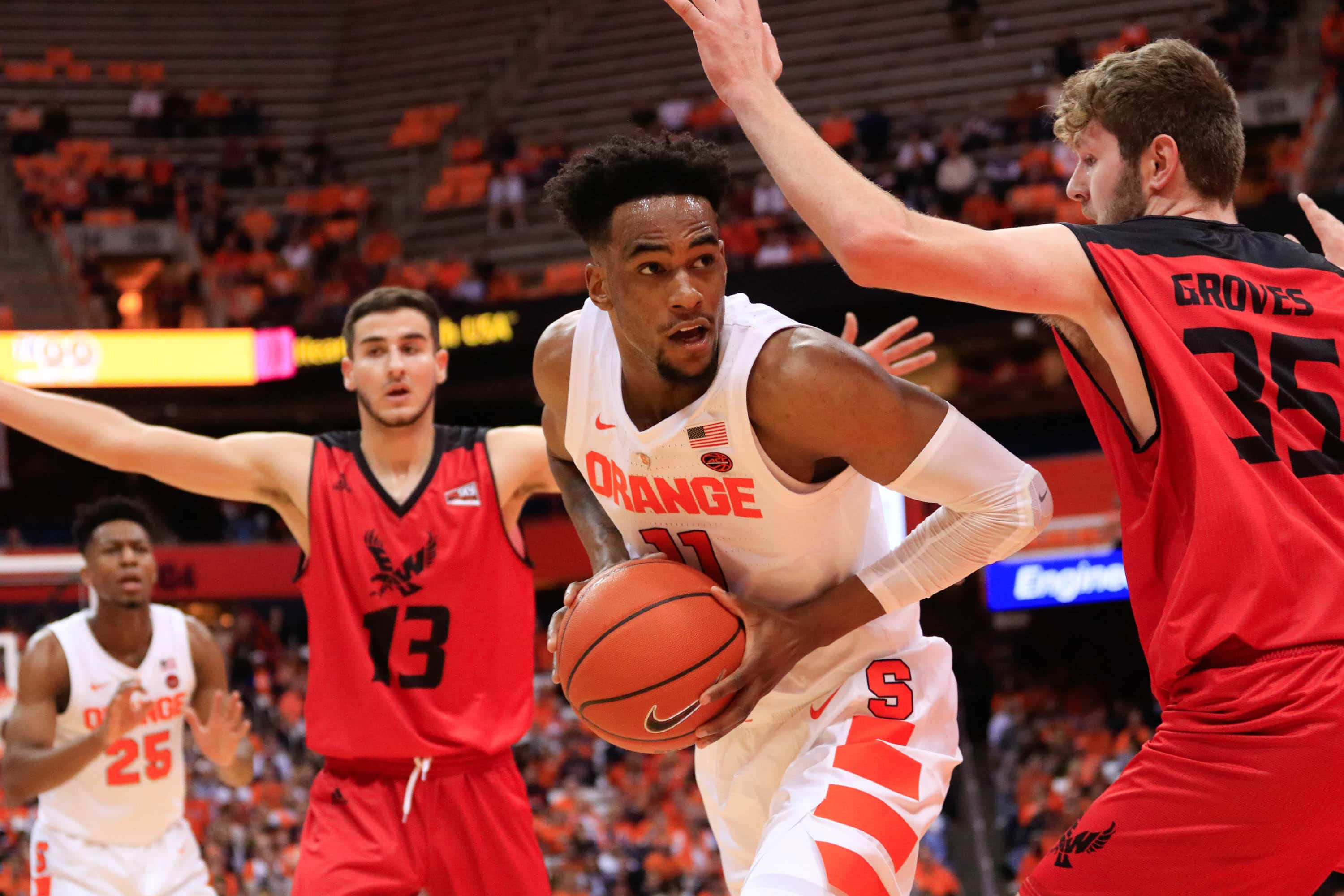Sophomore Oshae Brissett avoids Eastern Washington's defense on his way to the basket.