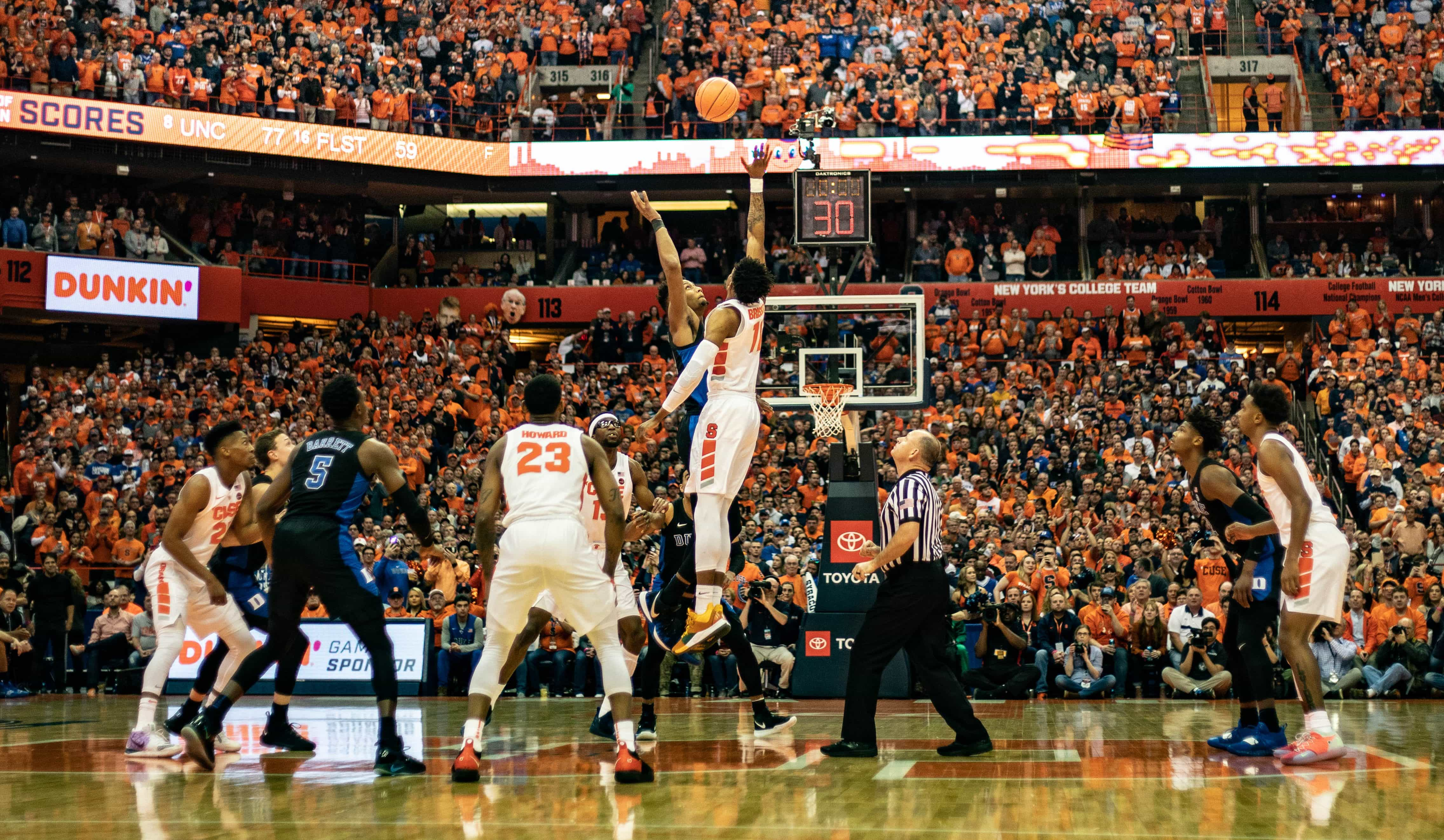Syracuse Falls Short Of Duke Sweep In Front Of Record Crowd