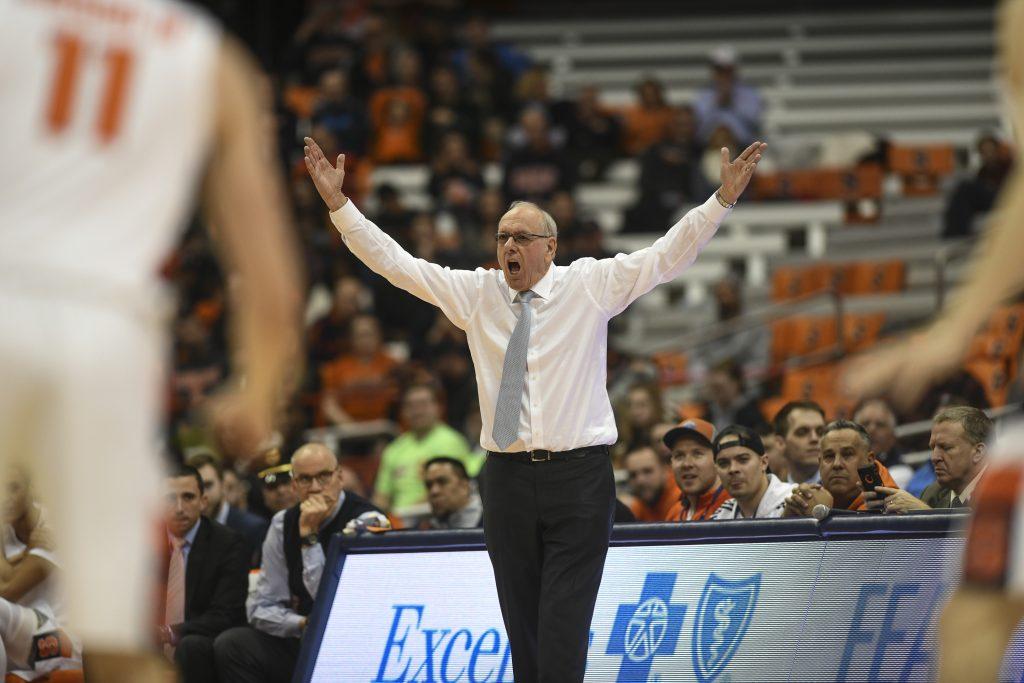 Syracuse Basketball vs. Oakland -Syracuse coach Jim Boeheim