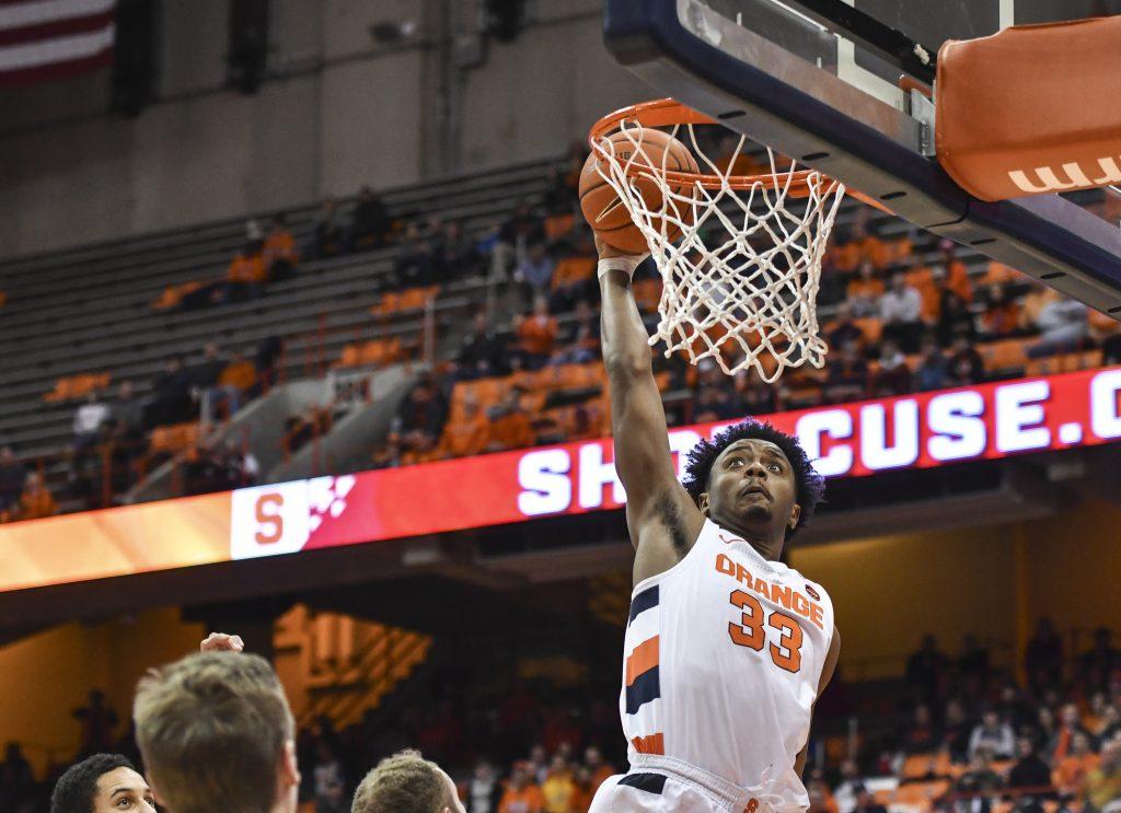 Syracuse Basketball vs. Oakland - Elijah Hughes dunk