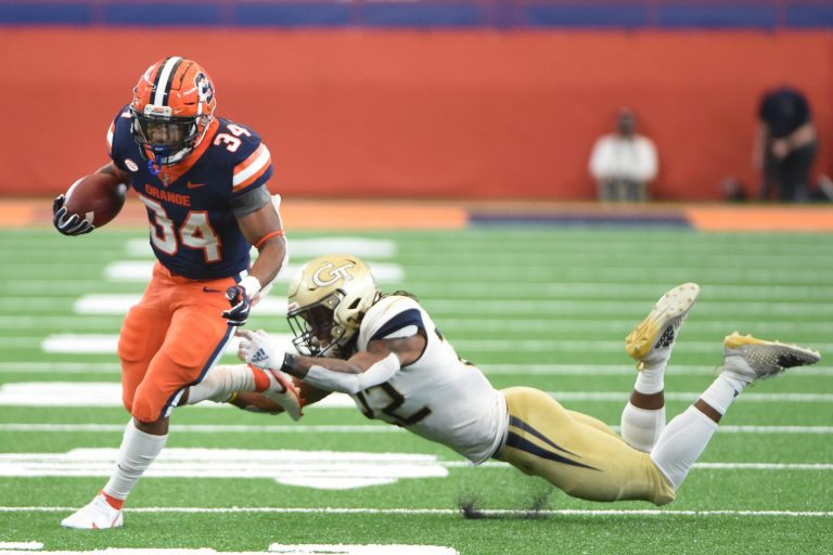 The Orange takes on theYellowJackets on Saturday, Sept.26, 2020, at the Carrier Dome in Syracuse, N.Y.