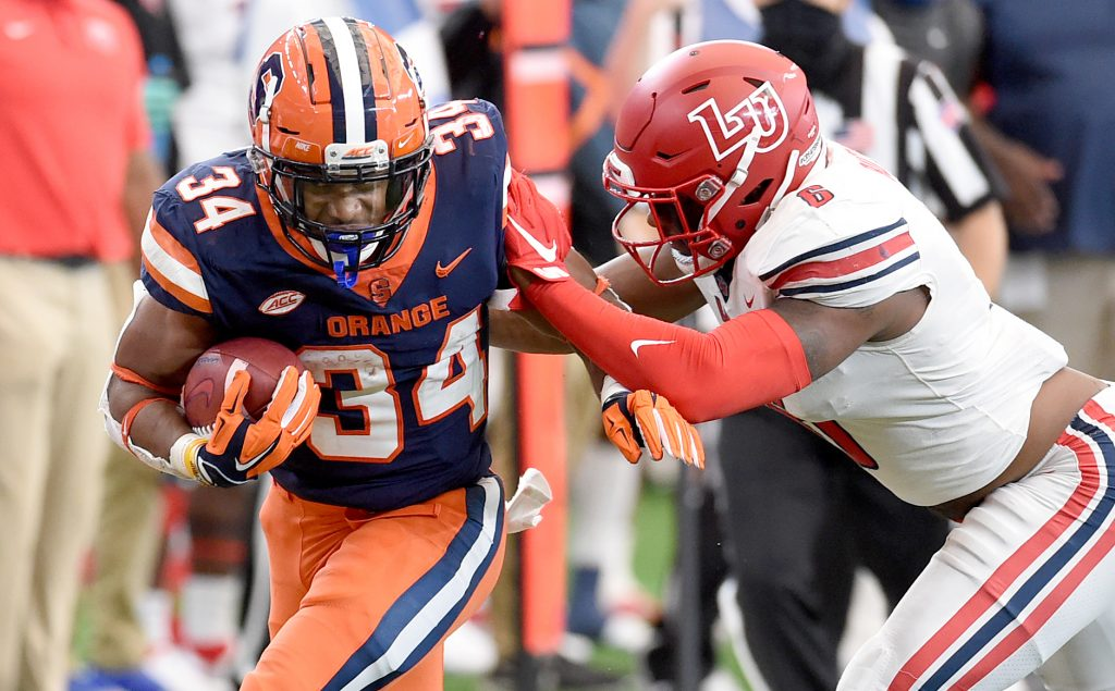 The Orange takes on the Blue Devils on Saturday, Oct. 10, 2020, at the Carrier Dome