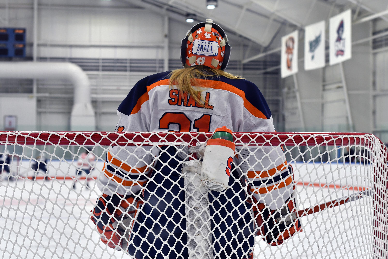 SU women's ice hockey goalie Allison Small