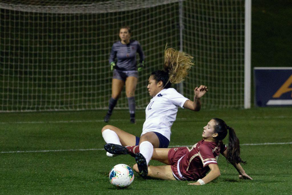 Syracuse women's soccer vs. Boston College on Oct. 22, 2020, at SU Soccer Stadium. SU lost 3-1.