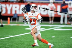 #23 Tucker Dordevic of Syracuse during game between Syracuse and Army at the Carrier Dome in Syracuse N.Y. Feb 21, 2021. Dennis Nett   dnett@syracuse.com