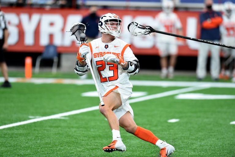#23 Tucker Dordevic of Syracuse during game between Syracuse and Army at the Carrier Dome in Syracuse N.Y. Feb 21, 2021. Dennis Nett | dnett@syracuse.com
